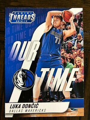 2018-19 PANINI THREADS BASKETBALL LUKA DONCIC OUR TIME CARD 15 RC