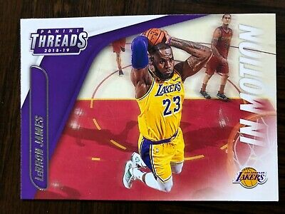2018-19 Panini Threads In Motion 12 LeBron James in Los Angeles Lakers Jersey