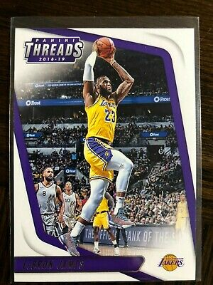 2018-19 Panini Threads Basketball 47 LeBron James in Los Angeles Lakers Jersey