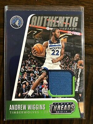2018-19 Panini Threads Authentic Threads AT-AWG Andrew Wiggins Jersey