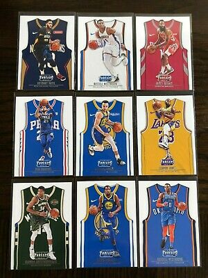 2018-19 Panini Threads Jerseys Lebron Curry Giannis Durant Super Star Lot x9