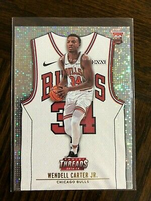 WENDELL CARTER JR- 2018-19 PANINI THREADS DAZZLE ROOKIE RC SP PARALLEL 107