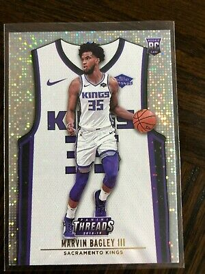 2018-19 Panini Threads Dazzle Parallel 104 Marvin Bagley III RC