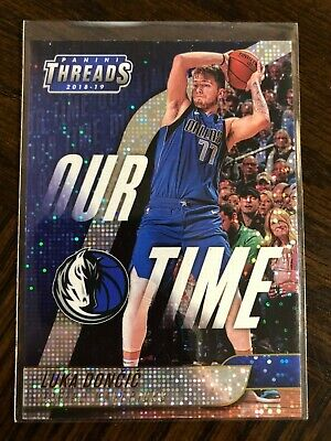 LUKA DONCIC OUR TIME DAZZLE PARALLEL ROOKIE RC 2018-19 PANINI THREADS MAVERICKS