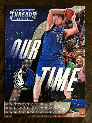 2018-19 Dazzle ParallelLuka Doncic Panini Threads Our Time • Mavericks