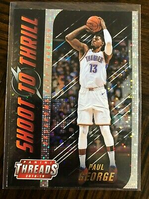 2018-19 Panini Threads Shoot To Thrill Paul George Dazzle Parallel Refractor SP