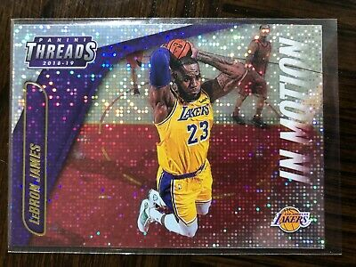 LEBRON JAMES 2018-19 Panini Threds In Motion Gold DAZZLE SSP