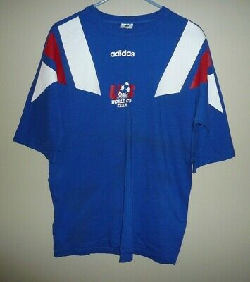 US World Cup Soccer Team Vintage Jersey Style T Shirt SZ LARGE Great Shp adidas