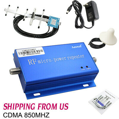 CDMA 850MHZ Cell Phone Signal Booster Amplifier Home Mobile Repeater Antenna Kit