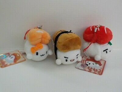 Cotton Foods Tofu Sushi plus lot of 3 phone charm for smart phones dust plug