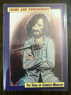 CHARLES MANSON 1992 Eclipse Crime And Punishment PROTOTYPE Card 1 PROMO