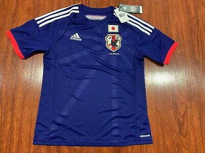 2014 World Cup Adidas Youth Japan National Team Home Soccer Jersey Large L Boys