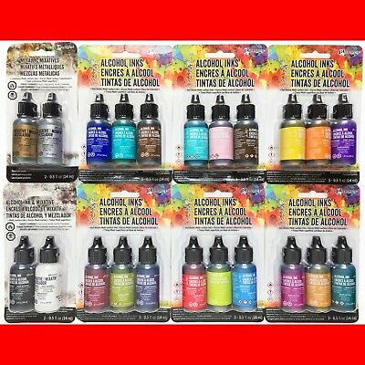 22 LOT of TIM HOLTZ ADIRONDACK ALCOHOL INKS METALLIC MIXATIVES 8 Packages NEW