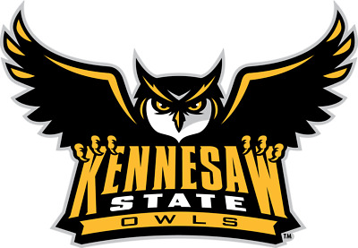 Kennesaw State Owls NCAA Color Die-Cut Decal  Sticker Free Shipping