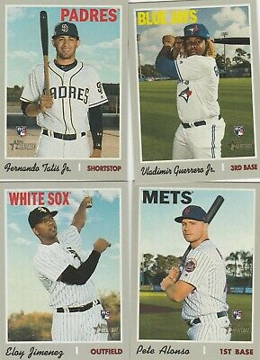 2019 TOPPS HERITAGE HIGH NUMBER 501 - 700 U-PICK COMPLETE YOUR SET GUERRERO RC