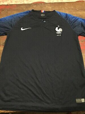 Nike MENS France 2018 WORLD CUP HOME JERSEY SIZE SMALL  Soccer Futbol