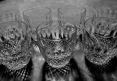 WATERFORD CRYSTAL COLLEEN 3-5 OLD FASHIONED TUMBLERS - 9 OZ - VINTAGE