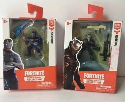 NEW Lot of 2 - Fortnite Battle Royale Figures - CARBIDE AND OMEGA