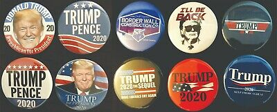 Donald Trump 2020 Variety Pack Buttons - Set of Ten 10 Different Buttons