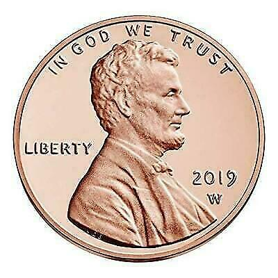 2019 W Lincoln Penny Union Shield Cent PROOF Single Coin with Envelope