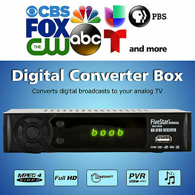 Digital TV to Analog Television Converter Box W DVR Recording Remote Control