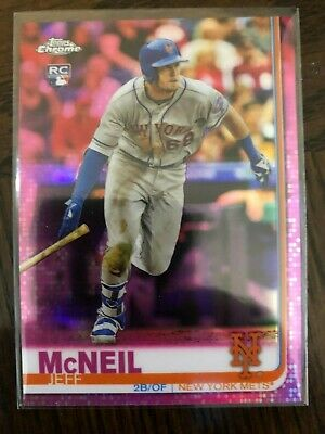 Jeff Mcneil Topps Chrome 2019 Pink Refractor 152 RC New York Mets