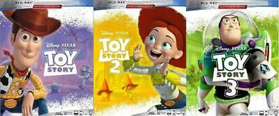 Toy Story Trilogy Blu-Ray Discs - Blank Cases Never Viewed 3-Disc Set FAST SHIP