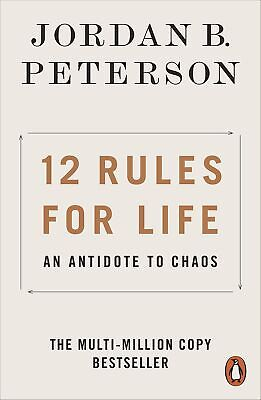 12 Rules for Life An Antidote to Chaos by Jordan B- Peterson PAPERBACK 2019 ENG
