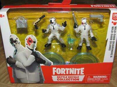 Fortnite Battle Royale Collection Wildcard Diamonds and Clubs Figures New