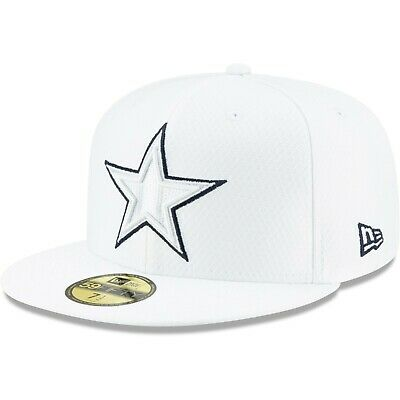 Dallas Cowboys New Era 2019 NFL Sideline Platinum 59FIFTY Fitted Hat -White