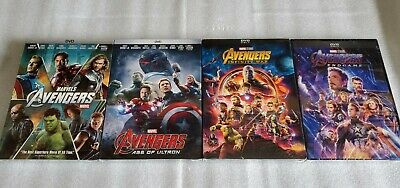 Avengers 4 Movie Bundle End Game Infinity War Age of Ultron Avengers DVD