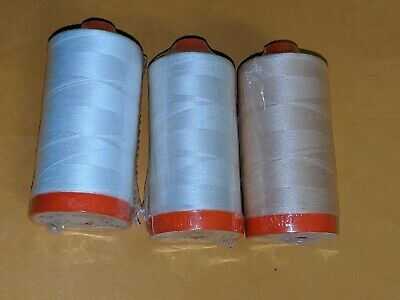 3 QuiltingSewing Spools Thread - Aurifil Light and Off-White - 2311 2315 2021
