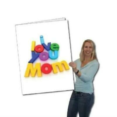 Mothers Day I Love You Mom Giant Card - Stock Design - Free Shipping