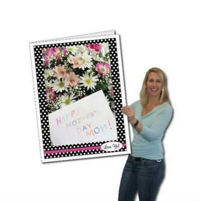 Mothers Day Polka Dot Design Giant Card - Stock Design - Free Shipping