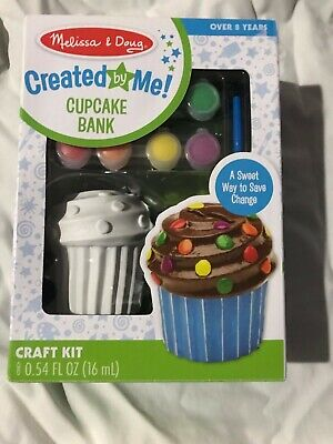 Melissa - Doug Created by Me Cupcake Bank  Decorate  NEW
