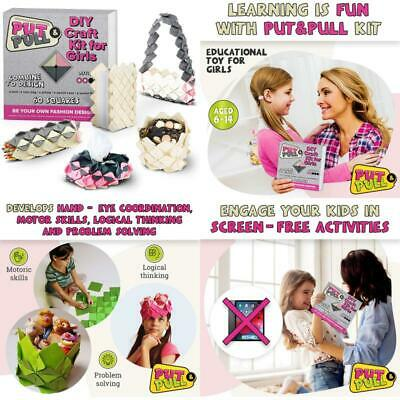 PutPull Craft Set For Girls - Who Love To Create - Unlimited Felt Fashion Acces