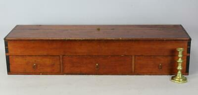 RARE 19TH C ENFIELD CT SHAKER ADD-ON CHEST TOP STORAGE DRAWERS IN OLD COLOR