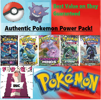 Authentic Pokemon Power Pack - 5 Booster Packs - 12 boxes Guaranteed Vintage