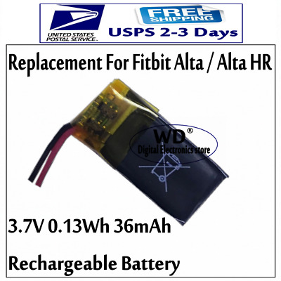 US 3-7v 36mAh Rechargeable Battery For Fitbit Alta For Alta HR Activity Tracker