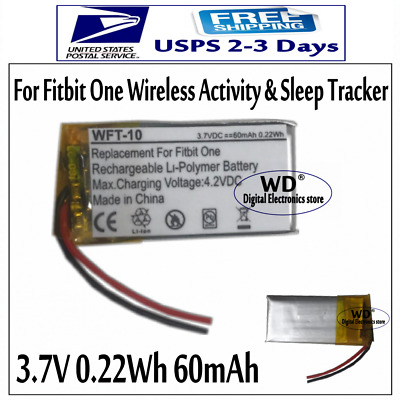 3-7V 60mAh Replacement Battery For Fitbit One Wireless Activity - Sleep Tracker