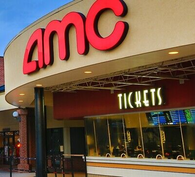 AMC Theaters Movie Snack Pack  2 LARGE DRINKS - 2 LARGE POPCORNS