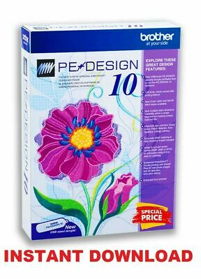 Brother PE Design 10 Embroidery Full Software - Free Gifts ✅ INSTANT DOWNLOAD
