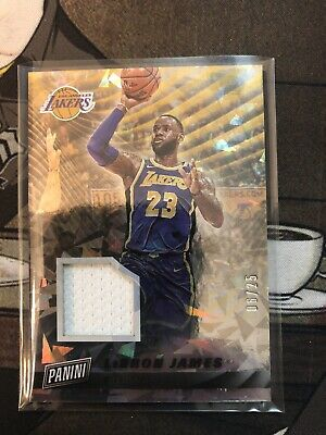 LEBRON JAMES 2019 PANINI CYBER MONDAY CRACKED ICE  25 JERSEY PATCH LOS ANGELES