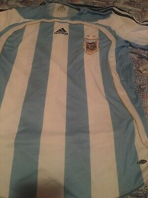 Adidas Argentina 2006 World Cup Climacool Authentic Jersey Soccer Football Sz L