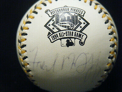 Vintage Fred McGriff autographed 1994 All Star Game MVP baseball