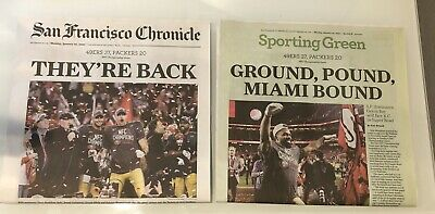 San Francisco 49ers 1202020 San Francisco SF Chronicle Newspaper THEY'RE BACK