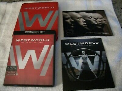 Limited Edition WESTWORLD 4K Ultra HD and Blu-Ray First Season DVDs Red Tin Box
