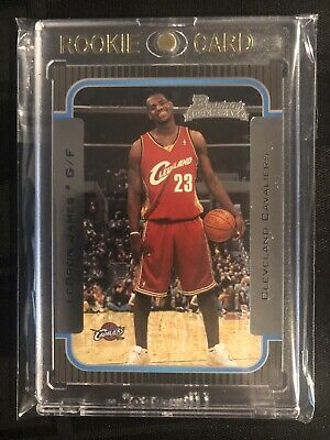 2003-04 BOWMAN 123 LeBRON JAMES ROOKIE LAKERS Rc MINT IN ONE TOUCH HOLDER