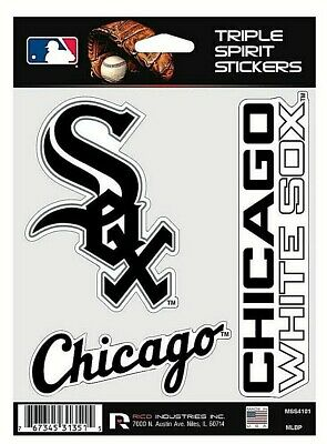 Chicago White Sox MLB Triple Spirit Stickers  Decals  3 Pack Free Shipping