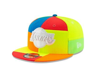 Los Angeles Lakers NBA COLOR BLOCK NEON 9Fifty Snapback Hat - Skittles